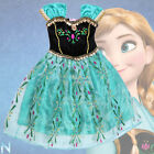 Frozen Anna Outfit Disney Coronation Dress Princess Cosplay Costume-Deluxe 3-12Y
