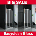 Bifold Door Shower Enclosure 6mm Glass Cubicle Screen Side Panel Stone Tray