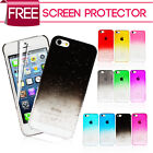 ULTRA THIN CRYSTAL SERIES BACK CASE COVER FITS APPLE IPHONE 5 5S SCREEN GUARD