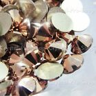 GENUINE Swarovski Rose Gold (ROGL) Crystal (No Hotfix) Flat back gem Rhinestones