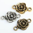 30pcs Flower Charm Connectors  Retro Silver/Golen/Bronze