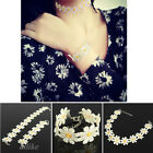 New Fashion Charm Daisy Flower Choker Chain Collar Lace Yellow Necklace Bracelet