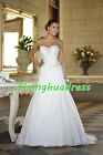 New Stock White/Ivory Wedding Dress Bridal Gown UK Size 6-8-10-12-14-16-18-20-22
