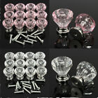12Pcs Crystal Clear Door Drawer Cabinet Furniture Cupboard Handle Knob Kitchen