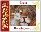 Christmas LION LAMB Religious PEACE Greeting Flat Cards Env
