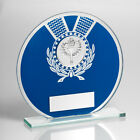 Glass Round Blue Generic Sports Trophy-3 sizes-FREE ENGRAVING-TD690