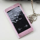 Crystal Bling Diamond View Leather Cover Case For Samsung Galaxy Note 4 N9100