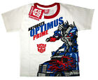 TRANSFORMERS OPTIMUS PRIME white cotton summer t-shirt S-XL Age 4-8yr Free Ship