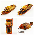 F1810 Carved cicada carp decoration