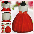 Silver White Red Christmas Party Flowers Girls Dresses SIZE 2-3-4-5-6-7-8-9-10T