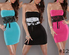 Hot Women Lady Sexy Lace Splice Strapless Bodycon Tight Party Dress Clubwear Top