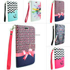 For Alcatel One Touch Fierce 2 7040T Design Hybrid PU Leather Wallet Flip Case