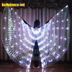 LED wings of isis belly dance club wear solid color Fairy light show +sticks bag