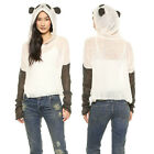 New Trend Panda Cosplay Perspective Tops Long Sleeve Women Thin Pullover Sweater