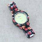 Color Flower Printed Watch Women Girl Dress Quartz Fashion Casual WristWatches