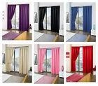 "Cali ECO Thermal Blackout Tape Top Curtains 65"" Width x 54"" Drop"