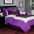 Hotel by Lavish Home 9 Piece Comforter Set with Pillows and Bed Skirt King Size