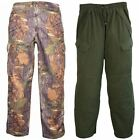 Jack Pyke Junior Children's Kids Camo/Olive Hunting Trousers Waterproof