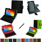 """Rotary Removable USB Keyboard Case+Pen for 8"""" LG G PAD 8.0 V480 Android Tablet"""