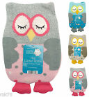 Owl Hot Water Bottle with Soft Knitted Cover, Winter Gift Idea, Thermotherapy