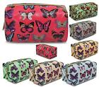 LADIES GIRLS BUTTERFLY PENCIL CASE SCHOOL WORK MAKE UP COSMETIC FASHION BAG