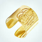 Mens Sterling Silver 10K Gold P Monogram Engraved Initial Open Ring Classic Band