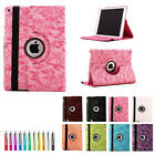 2014 new Cute 360 Rotating Leather Case Skin Cover stand for iPad Air 2 / iPad 6