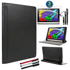 SlimBook Leather Stand Case w/ Magnetic Closure For Lenovo Yoga Tablet 2 8""
