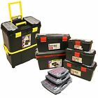 Toolbox Organiser Tool Storage Wheeled Box Tackle Compartment Case Organizer