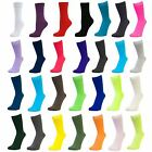 Womens Ladies Girls Plain Coloured Mid Calf Ankle Crew Short Socks New Lot