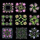 Anemone Quilt Squares 4 Machine Embroidery Designs CD-Anemone Embroidery Designs