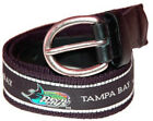 The Mark Adult Canvas Material MLB Tampa Bay Devil Rays Belt w/Buckle Closure
