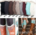 Fashion Women's Crochet Warm Knitted Lace Trim Boot Cuffs Toppers Leg Socks