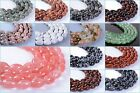 11mm gemstone oval rice loose beads 15""