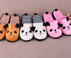 FD1110 Panda Tail Winter Coral Velvet Warm Soft Anti-slip Home Slipper Shoe New