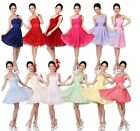 1Pc Hot Women Sexy Wedding Bridesmaid Prom Ball Short Dress Formal Party Evening