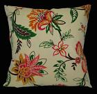 LF337a Fuschia Green Brown Mustard Cotton Canvas Fabric Cushion Cover/Pillow Cas