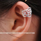 1pc Vintage Hollow Flower Ear Cuff Wrap Clip On Earring Non Piercing Jewelry New