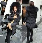 Luxurious Women Lady Winter Warm Thick Real Fox Fur Good Parka Coat