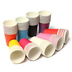 10/50Pcs Disposable Paper Cups Solid Party Events Catering Food Tableware Drink