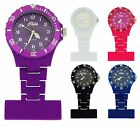 Relda Unisex Mens Ladies Rotating Bezel Rubberized Nurses Fob Watch For Him Her