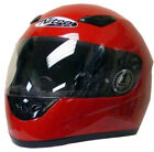 Nitro Dynamo Adult Plain Red Full Face Helmet Scooter Motorbike Motorcycle Crash