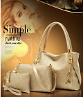 Valentine's Day Gift 3pcs Women's Ladies Leather Handbag Purse Bag