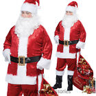 CL215 Classic Santa Suit Christmas Xmas Clause Mens Fancy Complete Costume