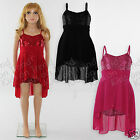 Girls Christmas Party Dress Sequin Detail Dip Hem  Age 4 5 6 7 8 9 10 11 12 13