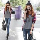 Fashion Women Long Sleeve Blouse Plaid Checked Casual Loose T-shirt Blouse Top