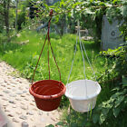 10 Hanging Plant Flower Pot Chain Basket Planter Home Garden Balcony Decoration