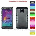 For Samsung Galaxy Note 4 Carbon Fiber Design Hybrid Rugged Impact Armor Case