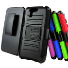 For ASUS PadFone X Color Rugged Hybrid Hard Case Cover Belt Clip Holster w/Stand