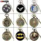 Retro Steampunk Antique Pocket Watch Chain Quartz Pendant Necklace Luxury Gift image